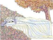 Sleeping Beauty - Mixed Media