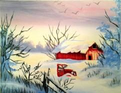 Barn and Truck - Acrylics