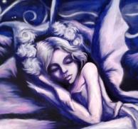 Blue Fairy - Mixed Media