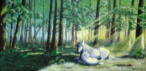 Mother in the Forest - Acrylics