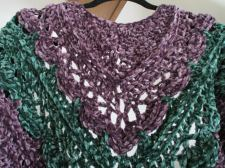 Purple and Green Velvet Shawl