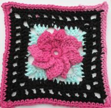 Pinwheel Flower Square