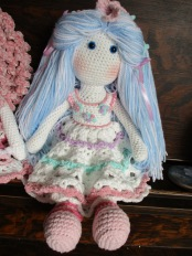 Blue Tilda Doll