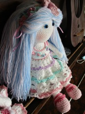 Blue Tilda Doll Side
