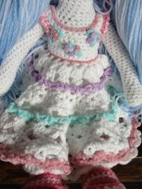 Blue Tilda Doll Dress