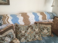The Six Day Kid Blanket in Sand and Blue